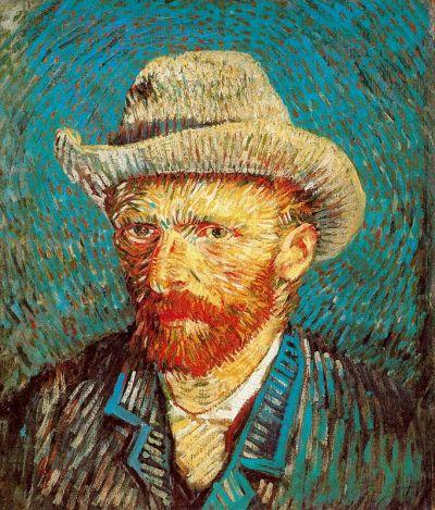 Van Gogh, Autoritratto con cappello