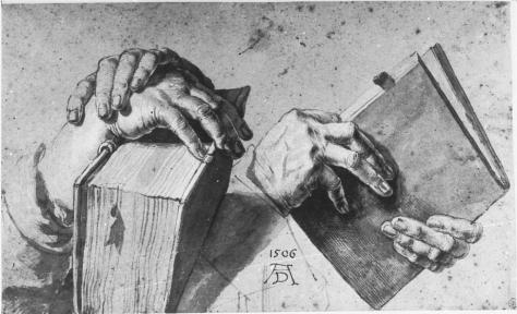 Dürer Albrecht, Zwei Paar Hände mit Buch, 1506