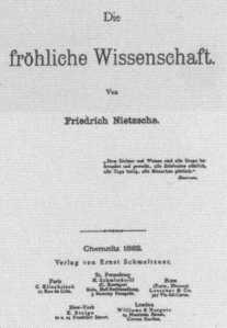 Nietzsche, La gaia scienza
