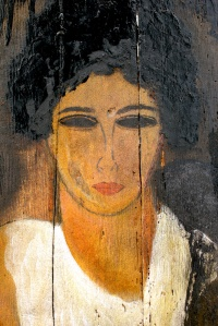 F. Federici, Woman in white blouse, part.