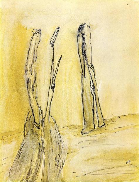 Henri Michaux, Trois figures, 1946