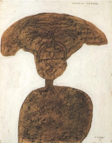 Jean-Dubuffet, Portrait d'Antonin Artaud, 1946