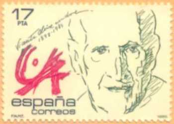 Vicente Aleixandre (francobollo del 1985)
