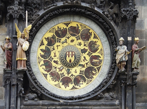 Prag, Rathausuhr Monatsarbeiten