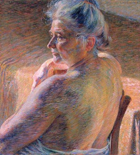 Umberto Boccioni, Nudo di spalle, 1909