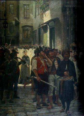 Giuseppe Boschetto, La Pimentel condotta al patibolo, 1869