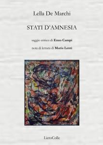 Lella De Marchi Stati d'amnesia copertinapiatta