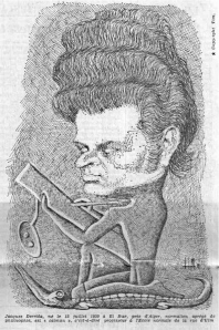 Tim, Caricature de Derrida, Le Monde, 1973