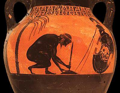 Exekias (V sec. a.c.), Suicidio di Aiace
