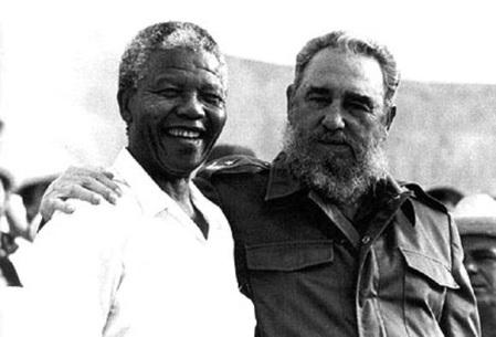 Nelson Mandela e Fidel Castro