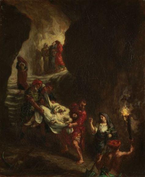 Eugène Delacroix, La deposizione di Cristo