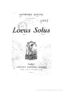 Rymond Roussel, Locus solus