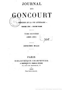 De goncourt, Journal