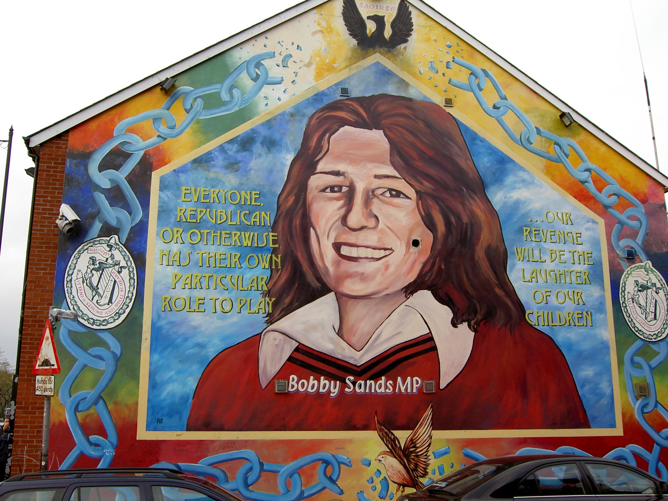 Un Inverno Da Baciare Marina Rei Bobby Sands Mural In Belfast