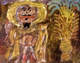 Jean Dubuffet - Arabe au palmier, 1948