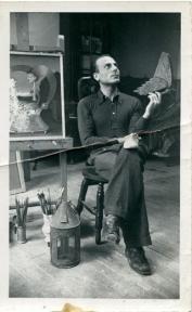 Ghérasim Luca in Victor Brauner's studio, Paris 1938