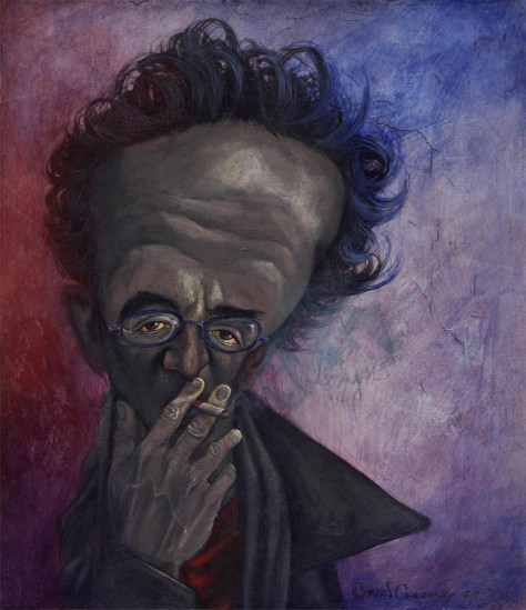 Roberto Bolano by Carloscartoons