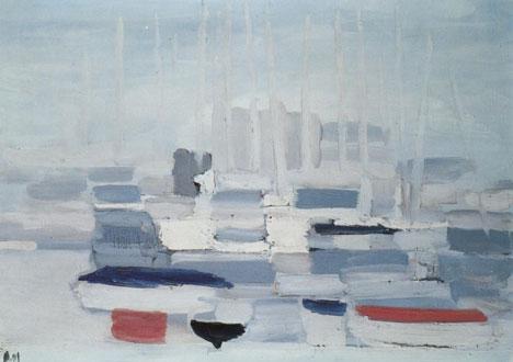 Nicolas De Stael, Barques dans le port, 1955
