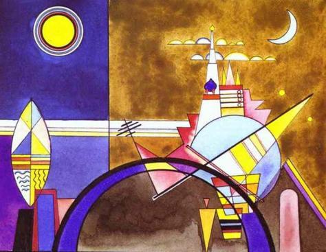Vassily  Kandisky, Bozzetto per i Quadri di un'esposizione, 1928