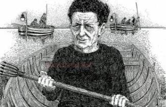 S. D'Arrigo in un disegno di Bruno Caruso