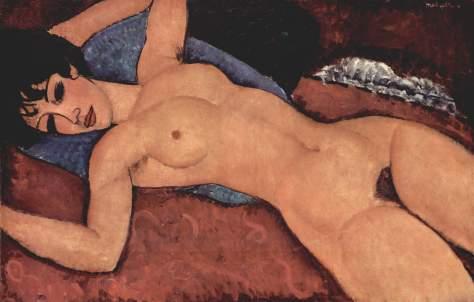Amedeo Modigliani, Nudo sdraiato, 1917-18
