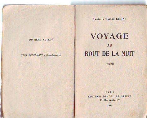 Céline, Voyage au bout de la nuit, 1932