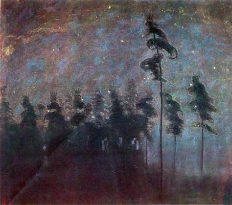 Mikalojus Ciurlionis, Forest, 1907
