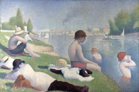 Georges Seurat, La baignade à Asnieres