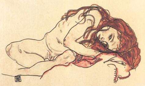 egon-schiele-ragazza-nuda-accovacciata