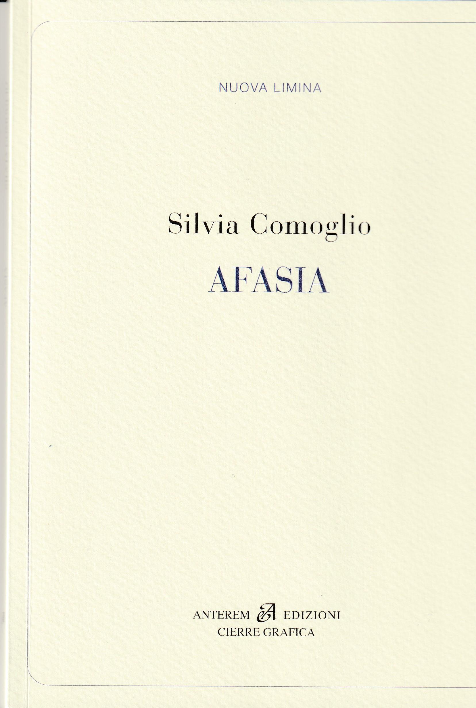 Silvia Comoglio - Afasia - Copertina